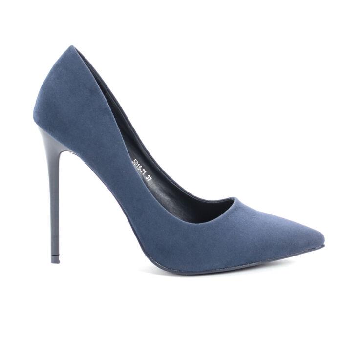 Small Swan Sötétkék Művelúr Magassarkú Cipő - ALKALMI CIPŐK - Női cipő  webáruház-női csizmák 3594bedfbe