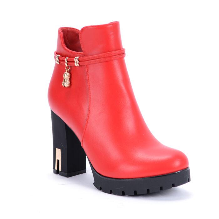 Basida Női Piros Magassarkú Bokacsizma - BOKACSIZMÁK - Női cipő ... 488b1186c9