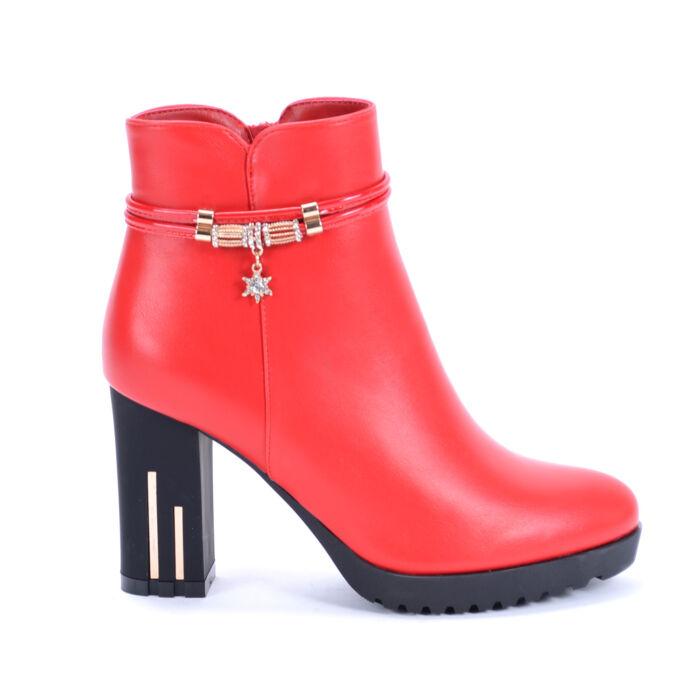 Basida Női Piros Műbőr Bokacsizma - BOKACSIZMÁK - Női cipő webáruház ... 45f8382ed6