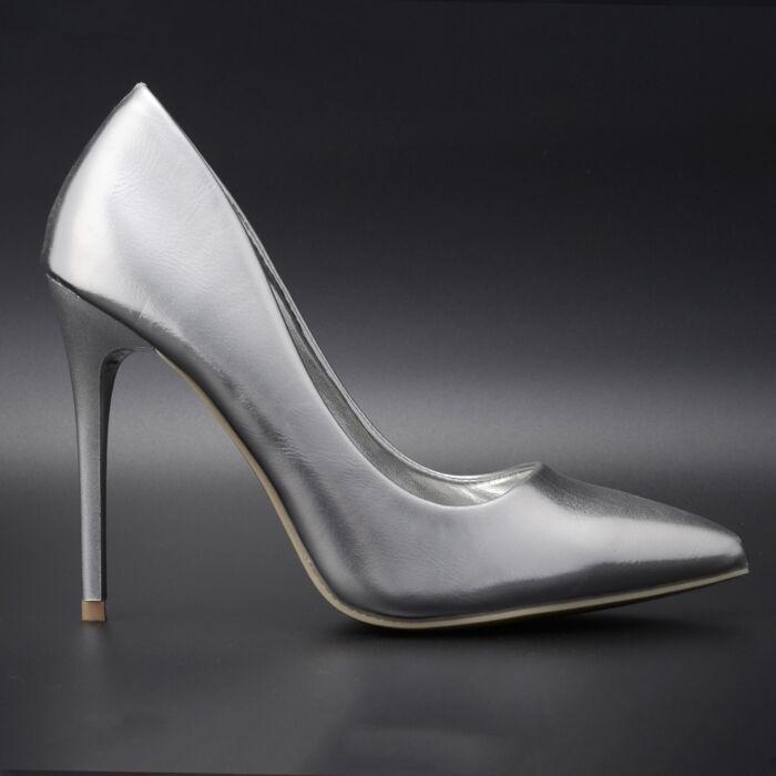 Small Swan Ezüst Lakk Magassarkú Cipő - ALKALMI CIPŐK - Női cipő  webáruház-női csizmák 300043b37e