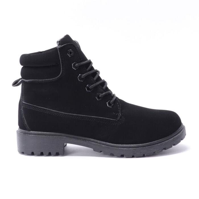 Basida Női Fekete Bélelt Művelúr Bakancs - BAKANCSOK - Női cipő ... 1a060dbafd