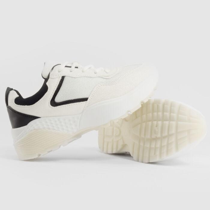 Fehér-Fekete Női Poliészter Félcipő - UTCAI CIPŐK - Női cipő webáruház-női  csizmák 6685c70793