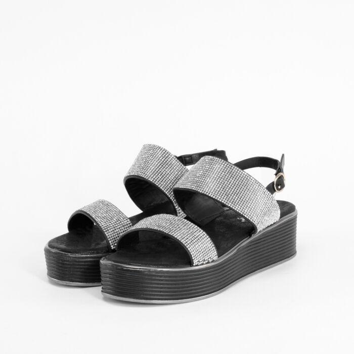 Fehér Női Strasszköves Magas Talpú Szandál - Szandál - Női cipő ... 68a3ebb344
