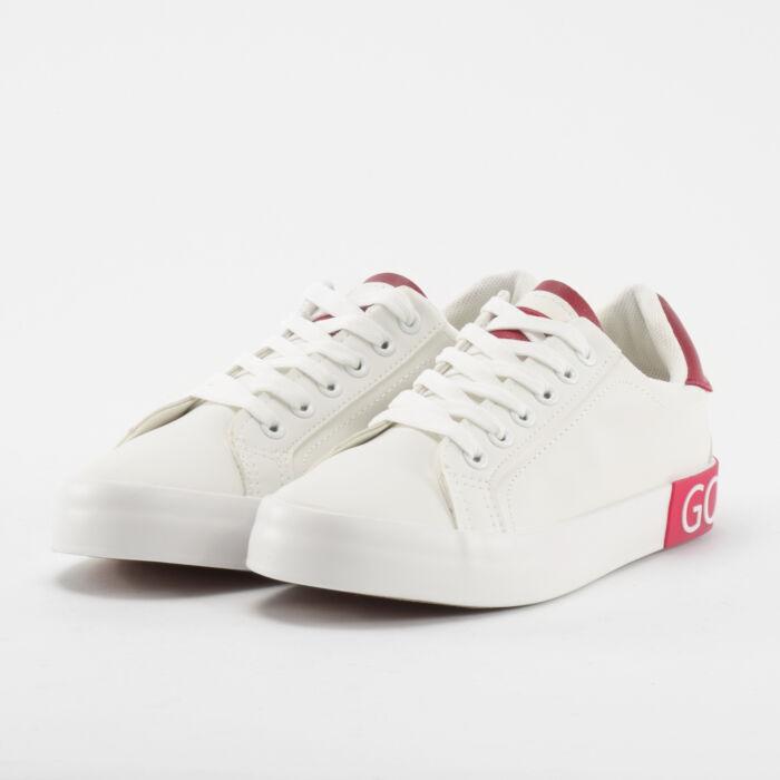 Fehér-Piros Mintás Női Poliészter Sportcipő - SPORTCIPŐK - Női cipő ... 41cf9b44c2
