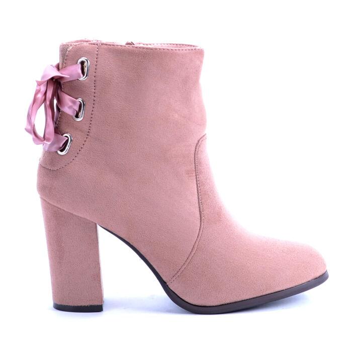 Seastar Rózsaszín Magassarkú Bokacsizma - BOKACSIZMÁK - Női cipő webáruház-női  csizmák df5936504a