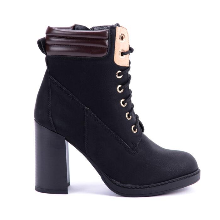 Seastar Fekete Műbőr Bokacsizma - BOKACSIZMÁK - Női cipő webáruház-női  csizmák b2756fda13