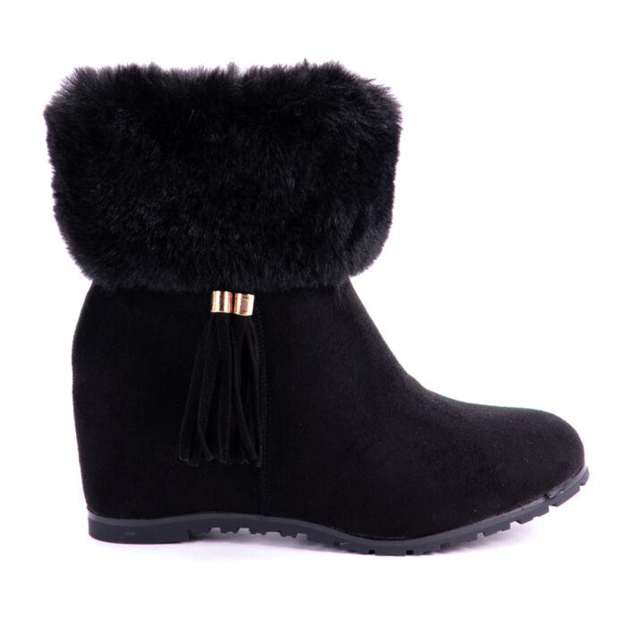 Seastar Művelúr Fekete Női Bokacsizma - BOKACSIZMÁK - Női cipő webáruház-női  csizmák c7399087f3