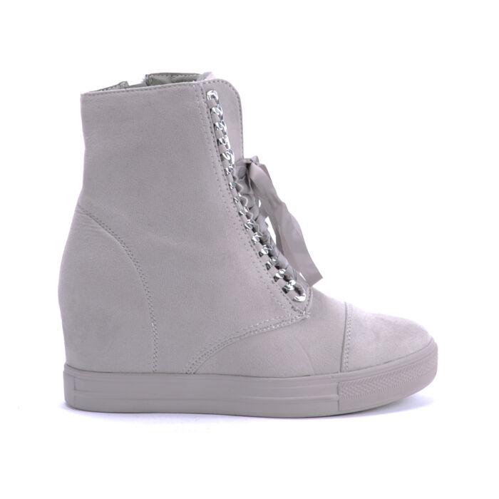 Seastar Szürke Női Művelúr Bakancs - BOKACSIZMÁK - Női cipő webáruház-női  csizmák 0a62d07d91