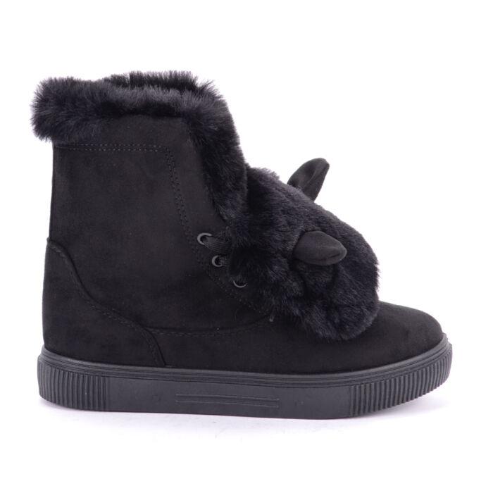 Seastar Fekete Női Nyuszifüles Bakancs - BOKACSIZMÁK - Női cipő webáruház-női  csizmák 472f37f6b8