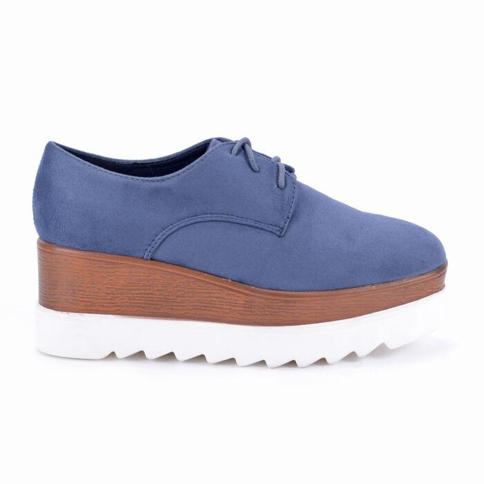 Seastar Kék Színű Női Művelúr Félcipő - MAGAS TALPÚ - Női cipő webáruház-női  csizmák 9111b01353