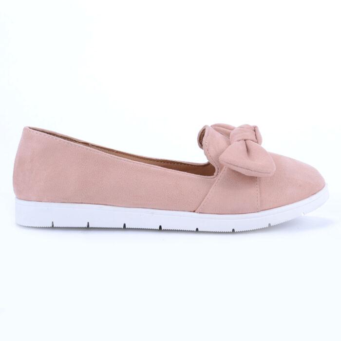 Seastar Rózsaszín Művelúr Félcipő Masnival - BALERINA CIPŐK - Női cipő  webáruház-női csizmák 6195ddc3f6