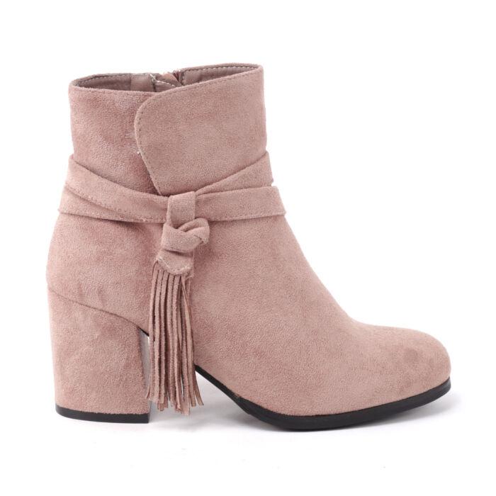 Női Rózsaszín Műbőr Bokacsizma - BOKACSIZMÁK - Női cipő webáruház-női  csizmák c56cef9072