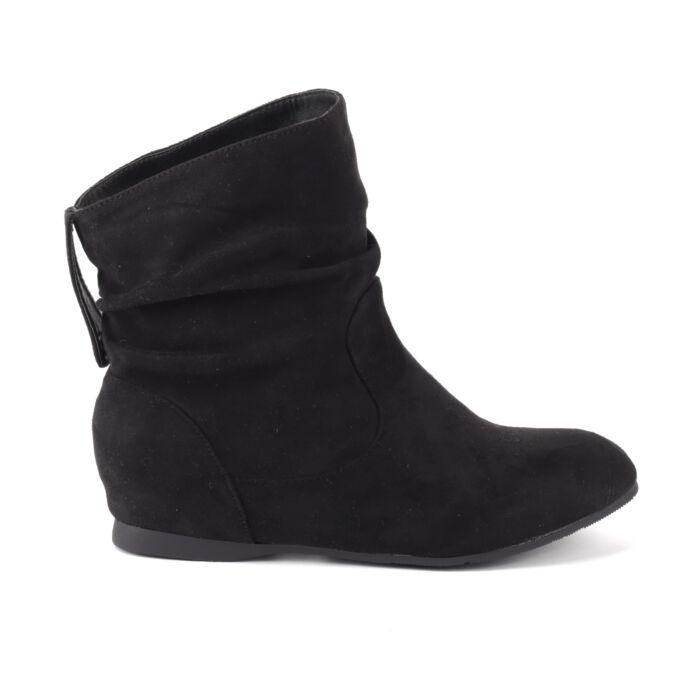 Női Fekete Művelúr Bokacsizma - BOKACSIZMÁK - Női cipő webáruház-női  csizmák 597da2787b