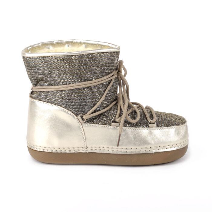 Női Arany Színű Szövet Csizma - HÓTAPOSÓK - Női cipő webáruház-női csizmák 670b924c79