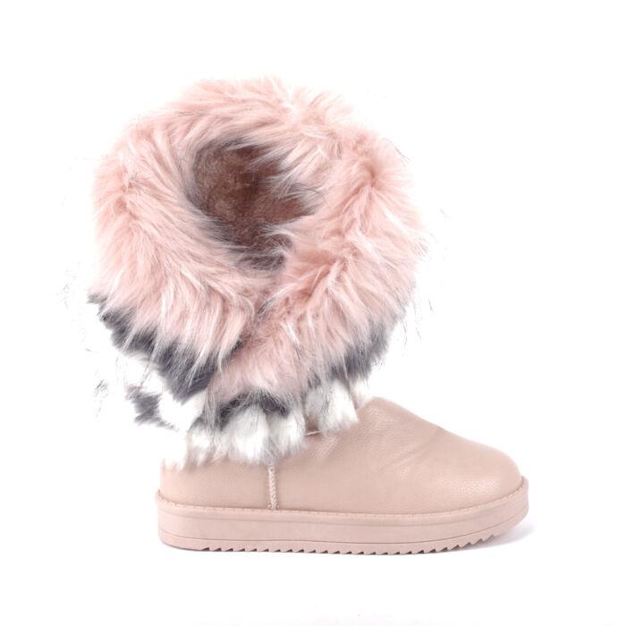 Női Rózsaszín Színű Műbőr Csizma - HÓTAPOSÓK - Női cipő webáruház-női  csizmák 35b70cd072