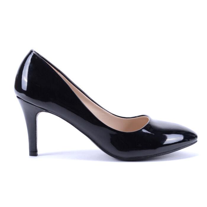 Női Lakk Magassarkú Fekete - ALKALMI CIPŐK - Női cipő webáruház-női  csizmák 9d9a013e32