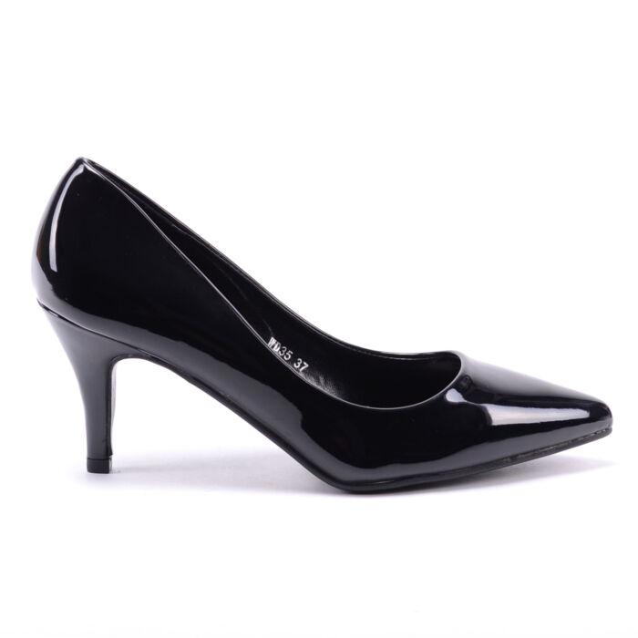 Női Fekete Lakkos Törpesarkú - ALKALMI CIPŐK - Női cipő webáruház-női  csizmák 7ebb61c2dd