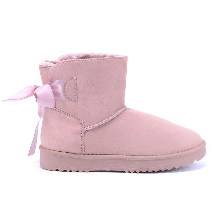 Női Rózsaszín Művelúr Csizma - HÓTAPOSÓK - Női cipő webáruház-női csizmák b1d82fbcfe