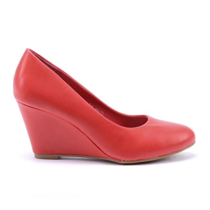 Női Piros Műbőr Törpesarkú - ALKALMI CIPŐK - Női cipő webáruház-női  csizmák b22be0db1d