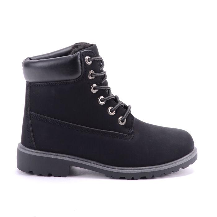 Női Fekete Szintetikus Bakancs - BAKANCSOK - Női cipő webáruház-női  csizmák 9eae3c0965