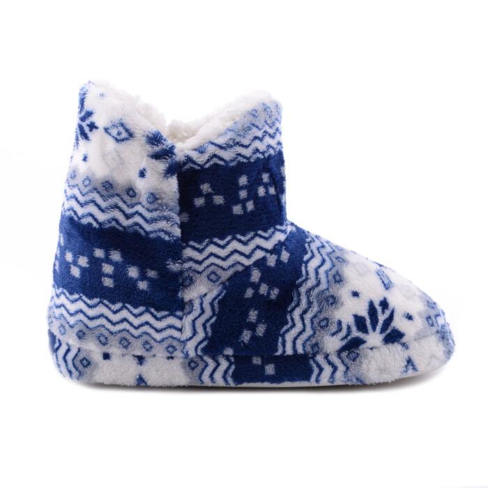 Kék Téli Mintás Plüss Mamusz - MAMUSZ - Női cipő webáruház-női csizmák 71fff1a901