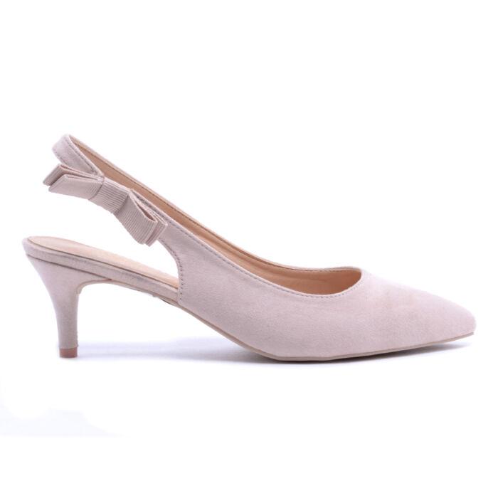 Bézs Női Művelúr Törpesarkú Cipő - ALKALMI CIPŐK - Női cipő ... e3a51366bf