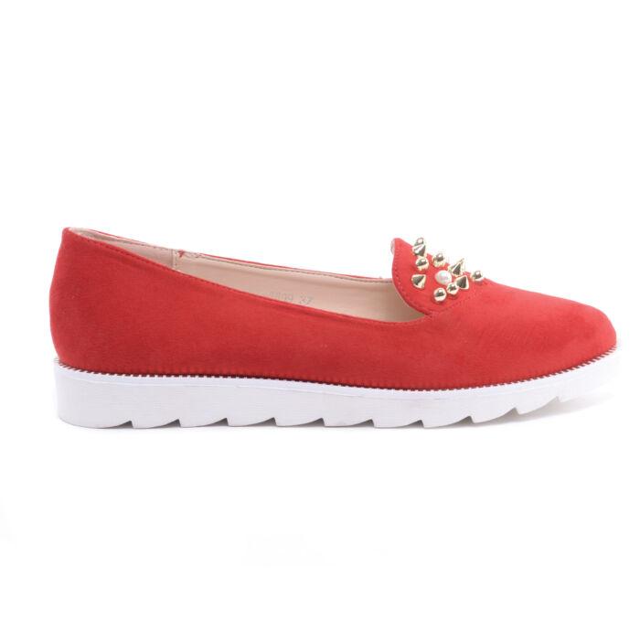 Piros Női Művelúr Mokaszin - SLIP-ON - Női cipő webáruház-női ... a297e8857c