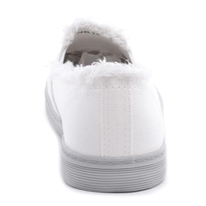 7f81eb0902 Fehér Női Szövet Slip-On - SLIP-ON - Női cipő webáruház-női csizmák ...