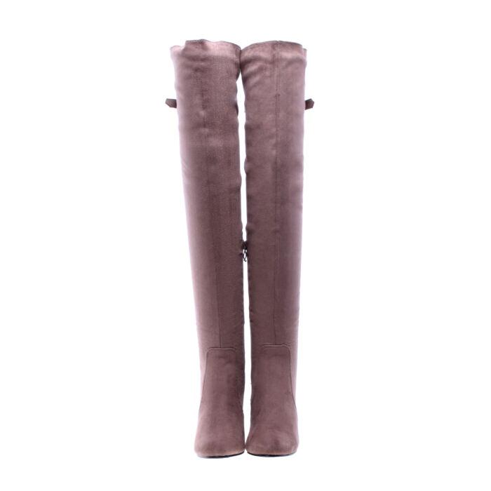 Khaki női művelúr hosszúszárú magassarkú csizma - MAGASSZÁRÚ CSIZMÁK ... a31601afb5