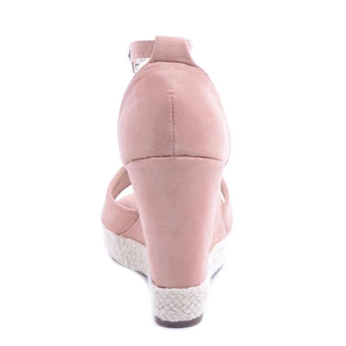 Rózsaszín Női Művelúr Magassarkú Szandál - LAPOS TALPÚ SZANDÁLOK ... e870e279a3