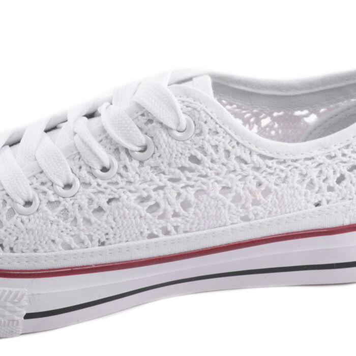 Fehér Női Csipkés Tornacipő - UTCAI CIPŐK - Női cipő webáruház-női ... 8d841e1fff