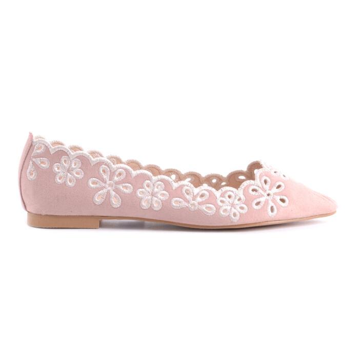 Rózsaszín Női Művelúr Balerina Cipő - BALERINA CIPŐK - Női cipő ... 5fc6f62af1