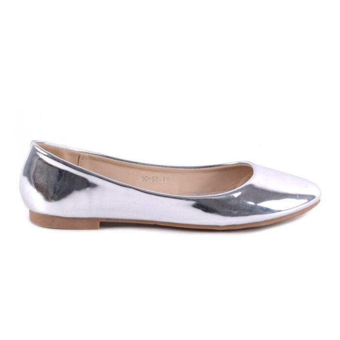 Női Lakk Balerina Cipő Ezüst Színben - BALERINA CIPŐK - Női cipő ... d5dfa0b4cf