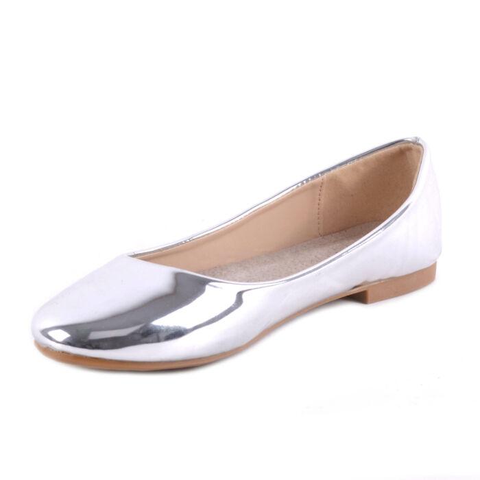 Női Lakk Balerina Cipő Ezüst Színben - BALERINA CIPŐK - Női cipő ... f3677674f9