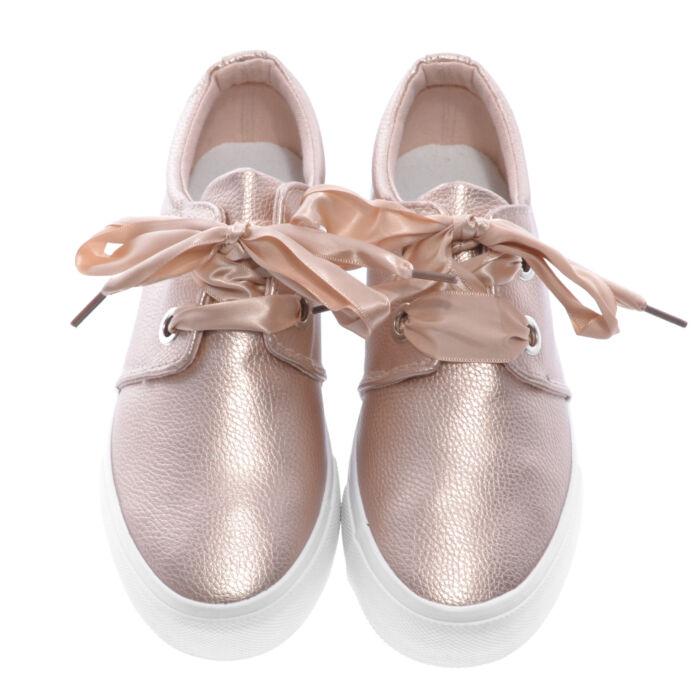 Női Pezsgő Szín Műbőr Félcipő - UTCAI CIPŐK - Női cipő webáruház-női ... c94b4d5017