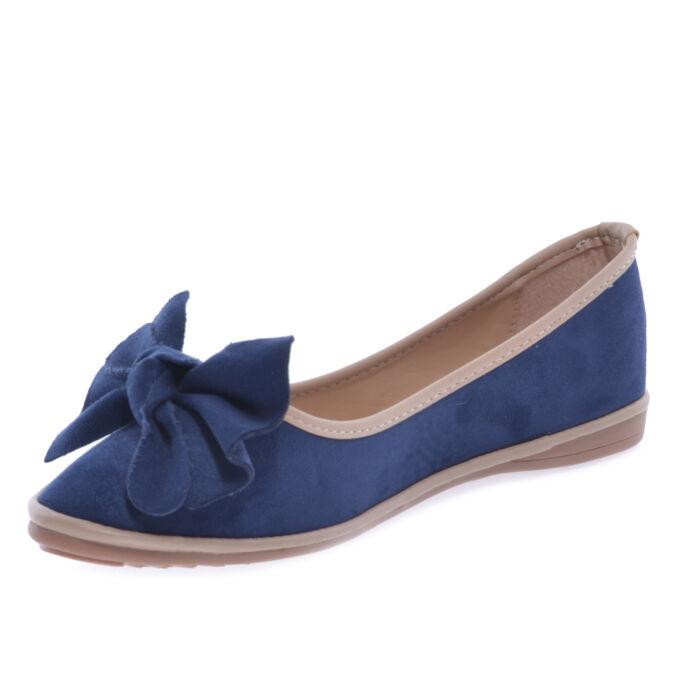 Sk26 Kék Női Művelúr Balerinacipő - BALERINA CIPŐK - Női cipő ... 67e6f3915b