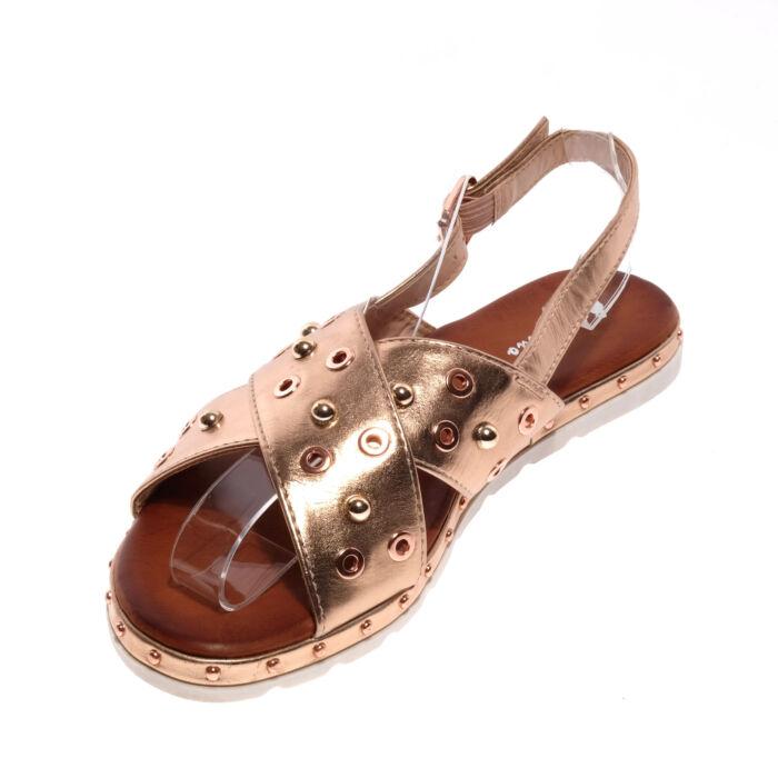Pezsgő Színű Női Műbőr Szandál - LAPOS TALPÚ SZANDÁLOK - Női cipő ... 68077cf9e1