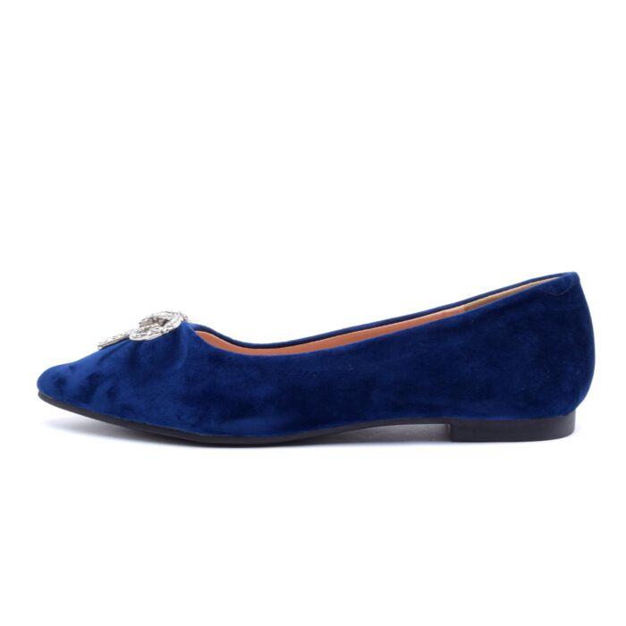 Kék masnis művelúr balerina cipő - BALERINA CIPŐK - Női cipő ... ac07d70797