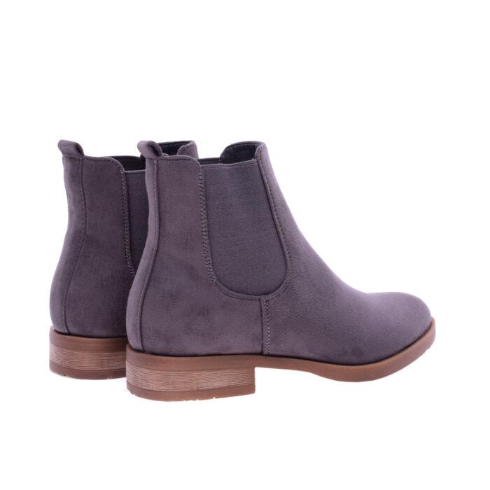 Szürke női művelúr bokacsizma - BOKACSIZMÁK - Női cipő webáruház-női ... 12b5785082