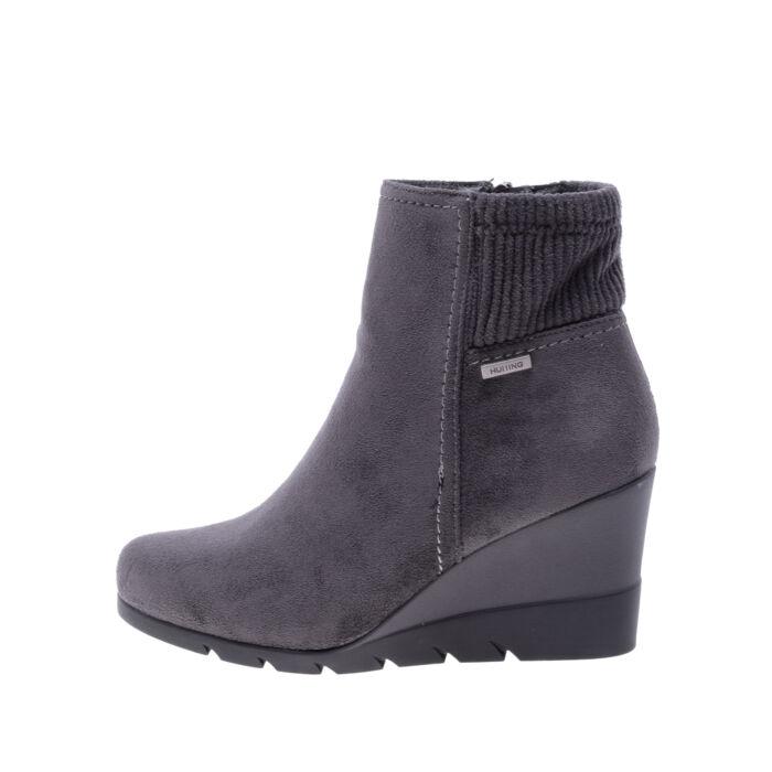 Női Szürke Művelúr Telitalpú Bokacsizma - BOKACSIZMÁK - Női cipő ... 579d7f5cf0