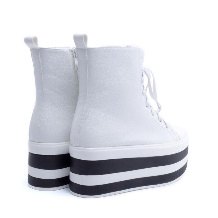 Női Fehér Magastalpú Magasszárú Cipő - PLATFORM CIPŐK - Női cipő ... 1d7d72f2e6