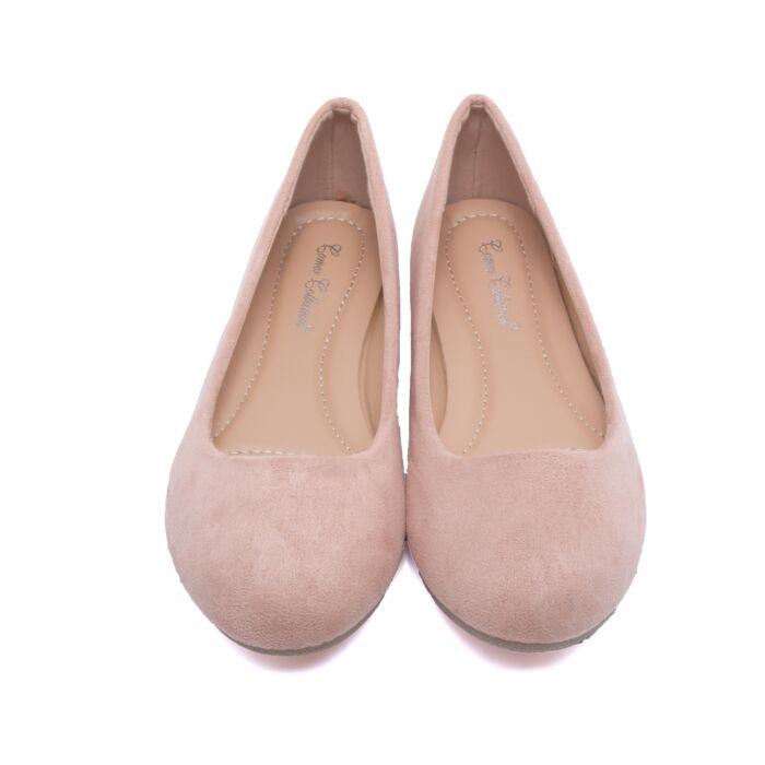 Női Rózsaszín Művelúr Balerina Cipő - BALERINA CIPŐK - Női cipő ... 7ef551b4a1