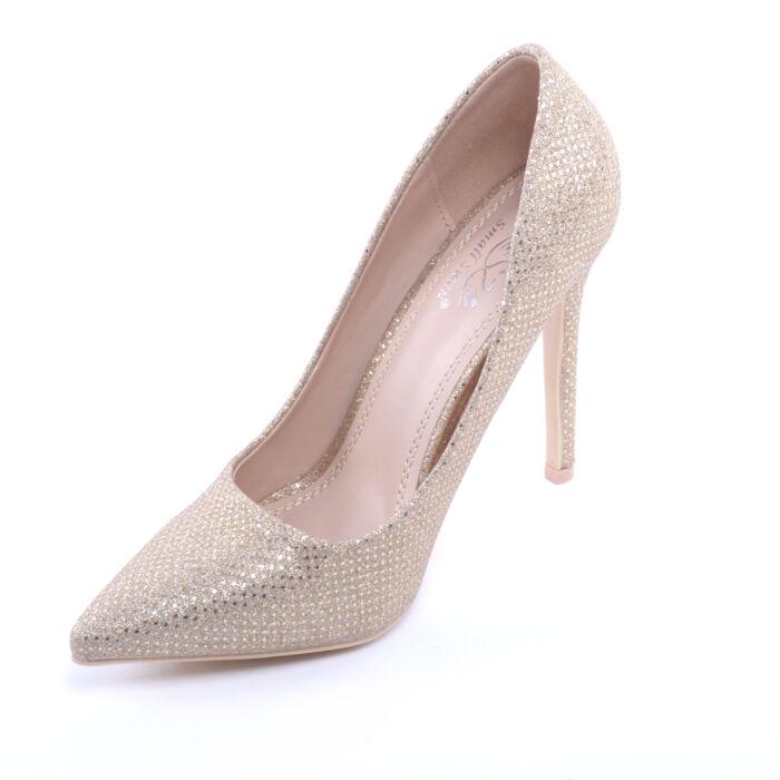 Női Csillogós Magassarkú Arany - ALKALMI CIPŐK - Női cipő webáruház ... e50206acbd