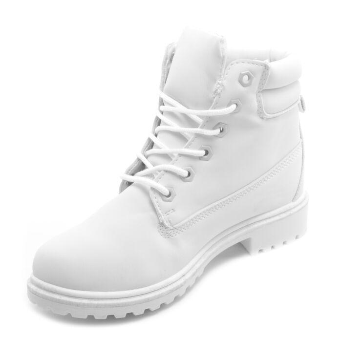 fd08206247 Basida Női Fhér Bélelt Művelúr Bakancs - BAKANCSOK - Női cipő ...