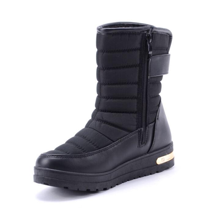 Női Szövet Hótaposó Csizma Fekete - HÓTAPOSÓK - Női cipő webáruház ... 3eff83f1fc