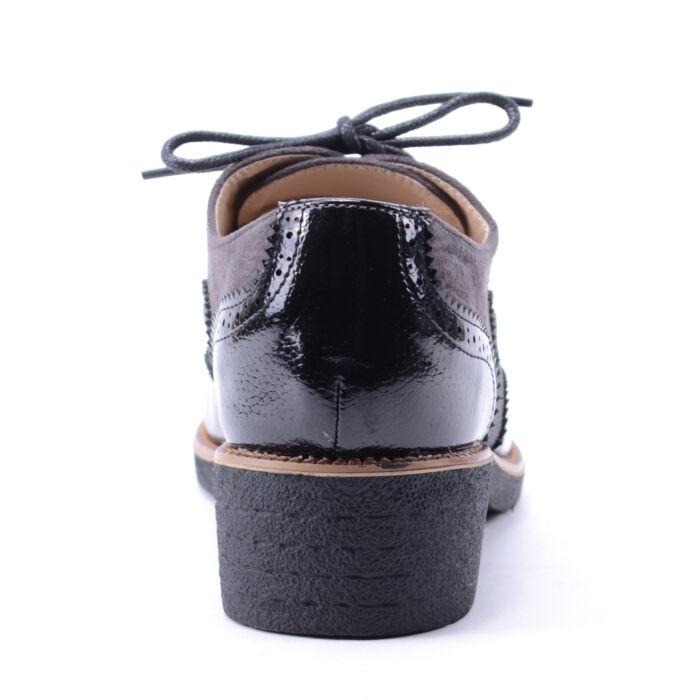 Női Műbőr Fűzős Félcipő Fekete - UTCAI CIPŐK - Női cipő webáruház ... 217788167e