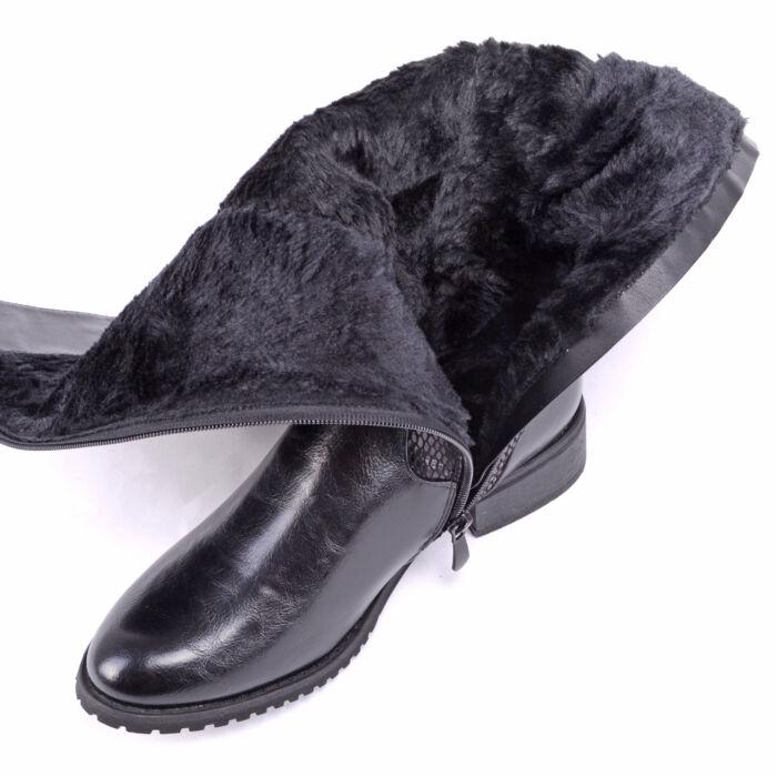 Small Swan Női Csizma Fekete - MAGASSZÁRÚ CSIZMÁK - Női cipő ... 5458896e01