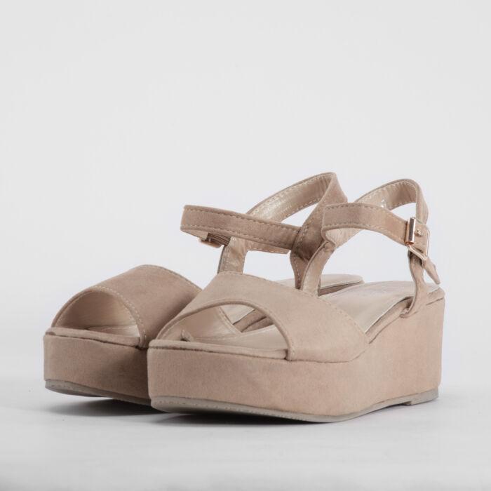 Keki Női Művelúr Telitalpú Szandál - MAGASSARKÚ SZANDÁL - Női cipő ... bb49393aee