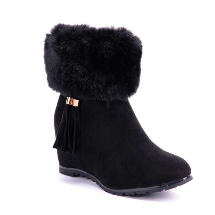 Seastar Művelúr Fekete Női Bokacsizma - BOKACSIZMÁK - Női cipő ... e6d7dc0e02