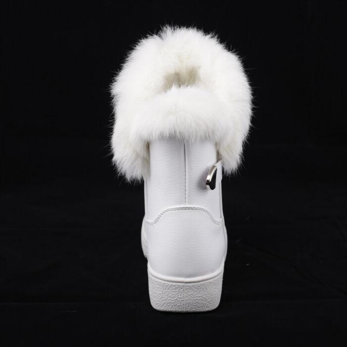 Női Fehér Műbőr Csizma - HÓTAPOSÓK - Női cipő webáruház-női csizmák ... 8f56149f18
